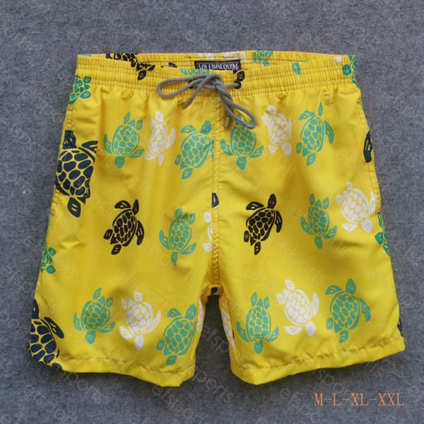 best selling mens summer swim short Vilebrequin bermuda beach clothing TURTLES Newest Summer Casual Shorts Men Fashion Style Mens Shorts
