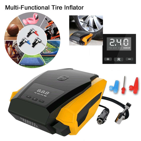 best selling Top quality Portable 12V Car Auto Electric Air Compressor Tire Inflator Pump with 3m Long Extended Power Cord with Cigarette Lighter Plug