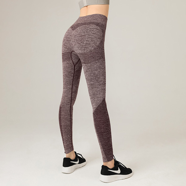 best selling Hot Sale! Seamless Yoga Pants with High Waist Without Embarrassing Line. Women's Sports Tight-fitting Running Yoga Clothes Hip Fitness Pants