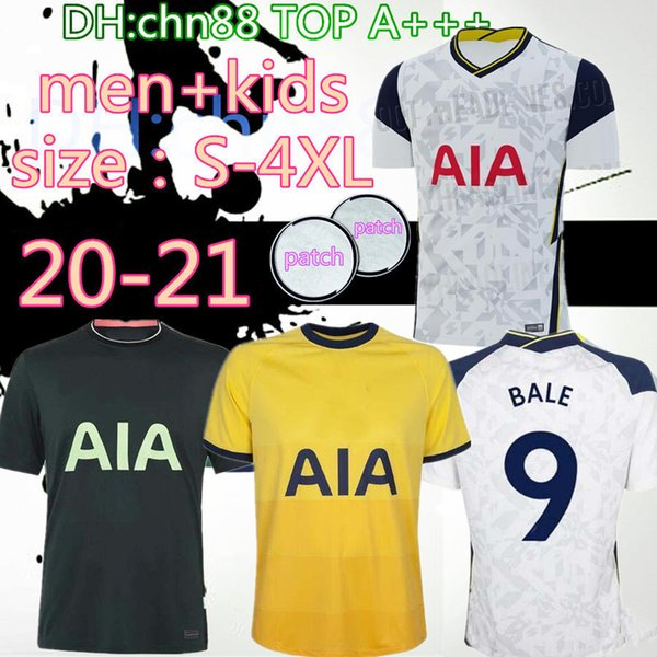 best selling size:S-4XL 20 21 KANE SON BERGWIJN Soccer Jerseys 2020 2021 LUCAS SPURS DELE TOTTENHAM Football shirt BALE NDOMBELE Men kids kit uniforms
