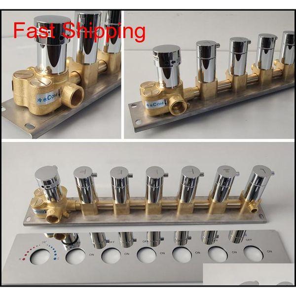 best selling Bathroom Shower Valve Mixing Big Water Flow Shower Faucets 5 Or 6 Ways Thermostatic Brass Diverter Valves Shower C jllUZL insyard