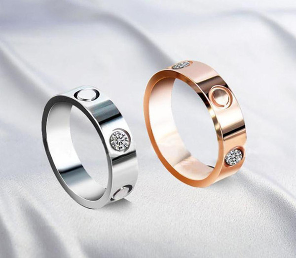 best selling Hot Boutique 316L Love Titanium Steel Nails Rings Band Rings Size For Women And Men Brand Jewelry With bag