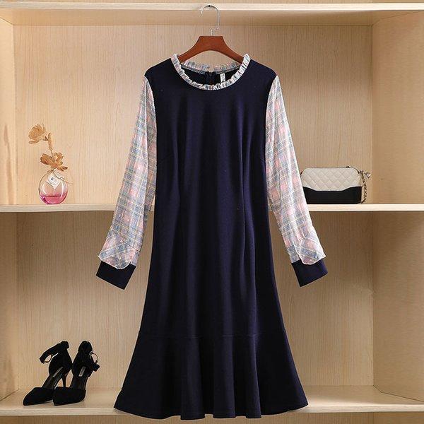 Königliches blaues Kleid