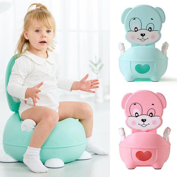 top popular Cartoon Puppy Potty Portable Baby Potty Toilet For Babies Child Pot Training Potty For Kids Chair Toilet Seat Children's Pot LJ201110 2021