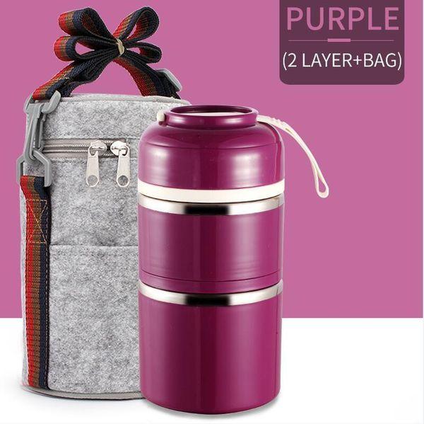 2 Capa púrpura bolsa