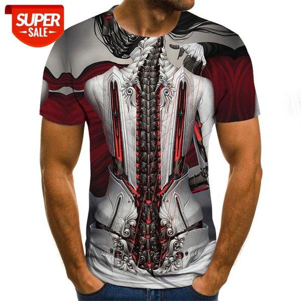 top popular Fashion Men's Short Sleeve 3d T-shirt Shirt 3d T-shirt Men's Fun Casual Hip hop Fitness #UM5a 2021