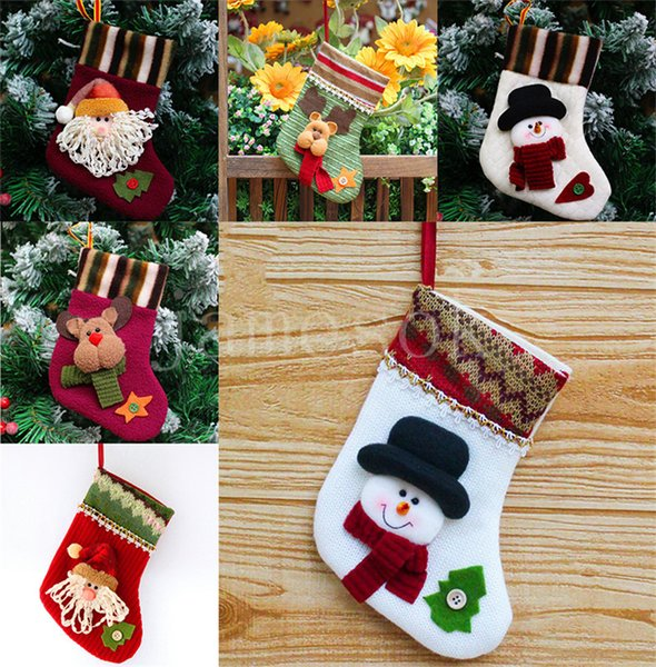 best selling HOT Christmas socks gift bags candy socks Christmas Tree Pendant decorations socks Christmas gift candy bags DB133