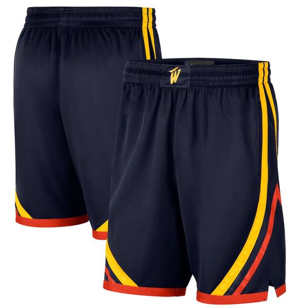GoldenStateWarriorsMen 2020/21 CityEditionOakland Forever Swingman Basketball Shorts Navy Pants
