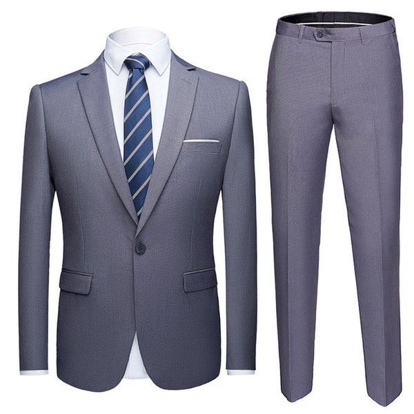 Costume gris clair