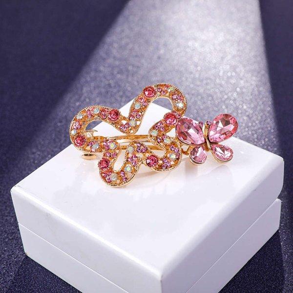 蝴蝶 发夹 6 公分 粉色