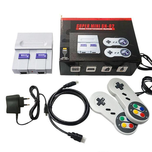 top popular HDTV 1080P Out TV 821 Game Console Video Handheld Games for SFC NES games consoles hot sale Children Family Gaming Machineree DHL Shipping 2021