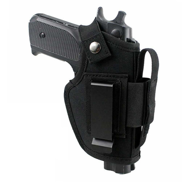 top popular tactical EDC nylon pistol holster with metal clip, can be hidden on the inside or outside of the belt, adjustable left and right ha 2021