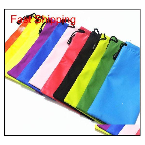 best selling Hot Mix Batch Many Colors Candy Colorssunglasses Glass Pouch Soft Eyeglasses Bag Shipping 18*9Cm Elas021 Bjfya
