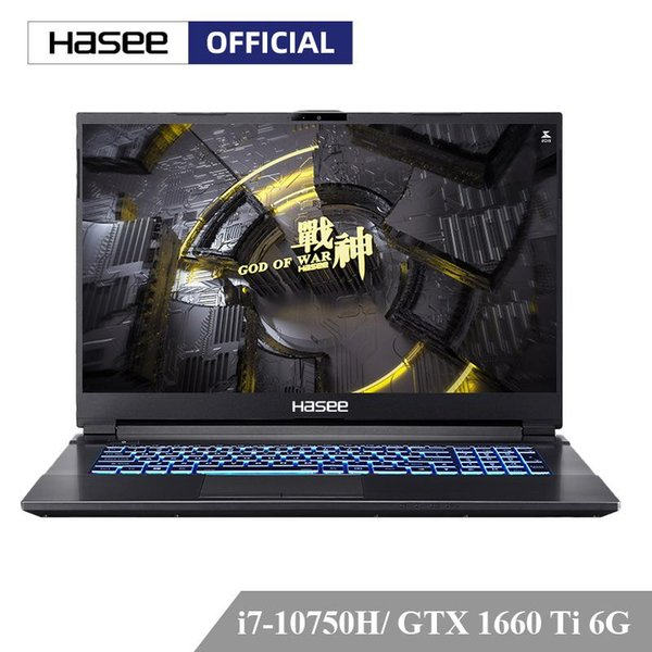 top popular Hasee G7-CU7NA Laptop for Gaming(-10750H+GTX1660Ti 8G RAM 512G SSD 17.3''144hz 72%NTSC IPS Backlit keyboard) Notebook computer 2020