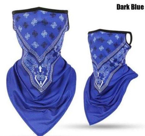 Mistura de máscara azul escuro