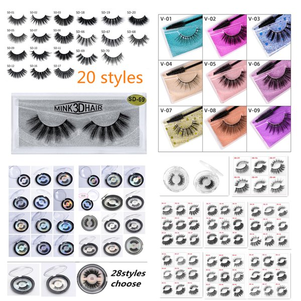 best selling EPACK 3D Mink Eyelashes Eyelash 3D Eye makeup Mink False lashes Soft Natural Thick Fake Eyelashes Lashes Extension Beauty Tools 20 styles