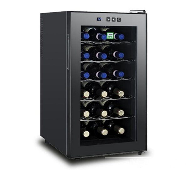 best selling Semiconductor electronic small embedded constant temperature wine cooler wine refrigerated freezer factory direct sales Tempered glass panel