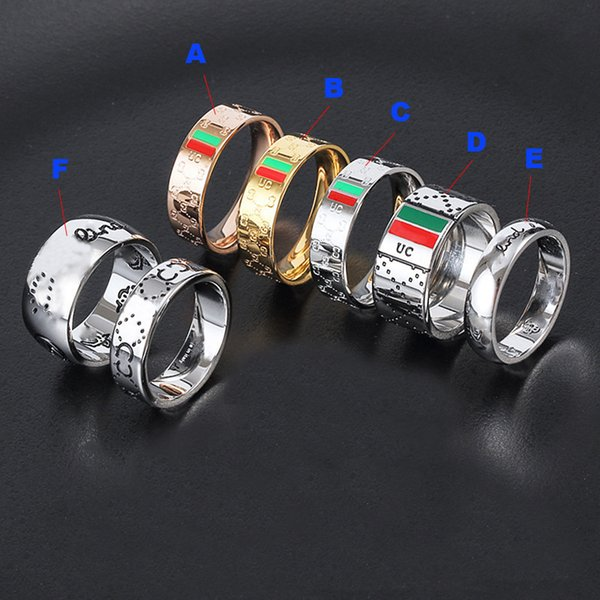 top popular Titanium Stainless Ste silver skull rings moissanite anelli bague for mens and women Party promise championship jewelry lovers gift with box 2021