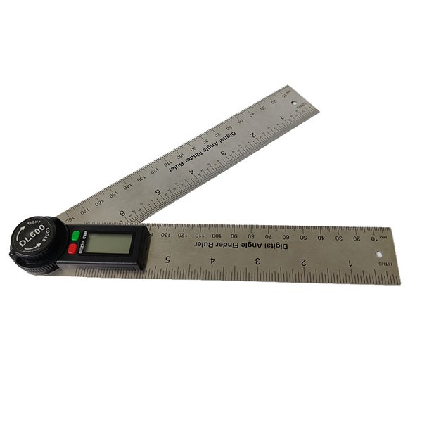 best selling 7 inch stainless steel goniometer digital display angle ruler square precision inclinometer protractor universal woodworking tool