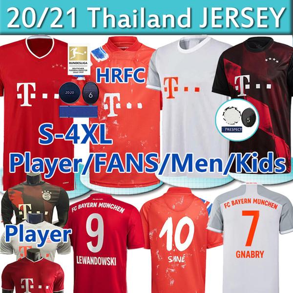 top popular S-4XL Player Bayern Munich Human 2020 21 Race SANÉ Fans soccer jerseys LEWANDOWSKI DAVIES MULLER GNABRY MUNCHEN Men Kids kit football shirts 2020