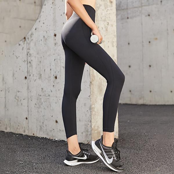 top popular Women's Yoga Pants Running Sports Fitness Pants Women's High Waist Peach Hip Lift Large Size Tight High Elasticity 2021