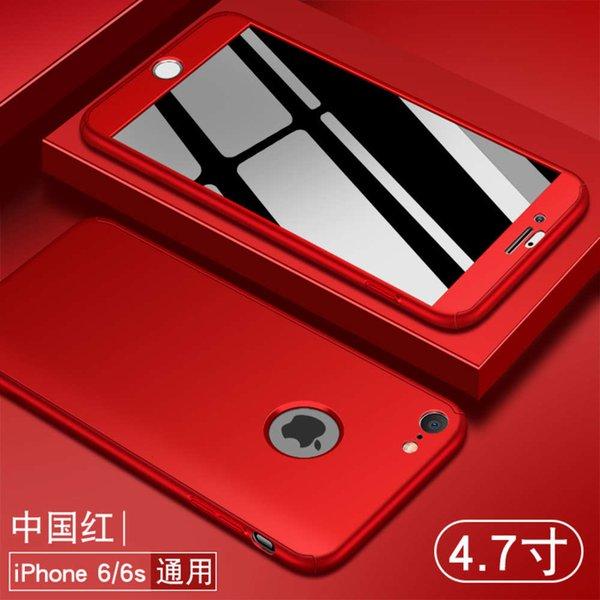 6 / 6s china vermelho x (etiqueta exposta) enviar filme temperado