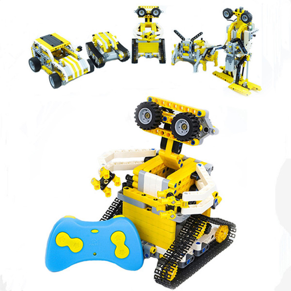 top popular 5 in a small RC track racing block with dual electric engine technology power city assembly brick 2021