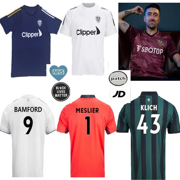 top popular 20 21 Leeds third home away ALIOSKI soccer jerseys COSTA Celebrates Centenary 2020 2021 United BAMFORD CLARKE Men maroon football uniform 2020