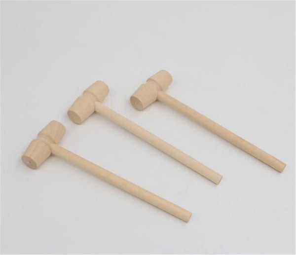 top popular Mini Wooden Hammer Balls Pounder Replacement Wood Mallets Jewelry DIY Crafts 2021