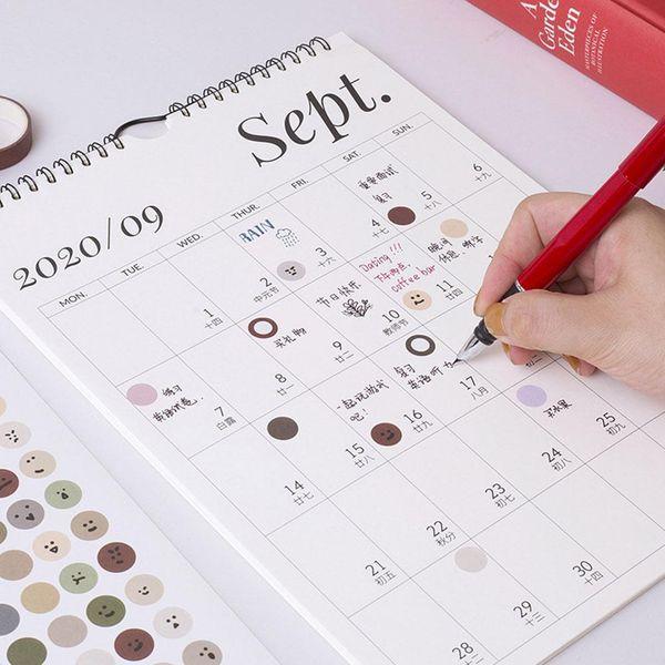 best selling 2021 Simple Wall Calendar Weekly Monthly Planner Agenda Calendar Wall Planner Schedule Daily Organizer Hanging Office Home N5B2