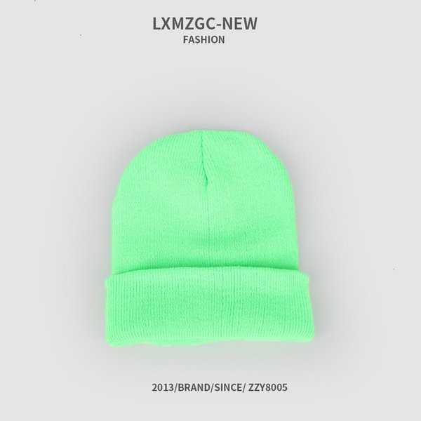 Sombrero de punto fluorescente - Fluorescente GR