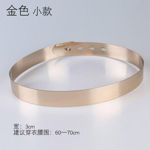 Ancho: 3 cm Oro Pequeño