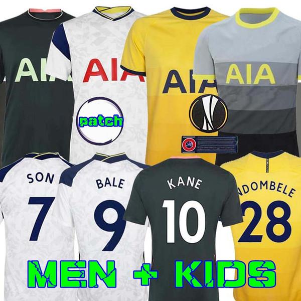 best selling Men + KIDS KIT 20 21 KANE SON BERGWIJN NDOMBELE Soccer Jerseys 2020 2021 LUCAS DELE TOTTENHAM jersey Football kit shirt LO CELSO HOME BALE