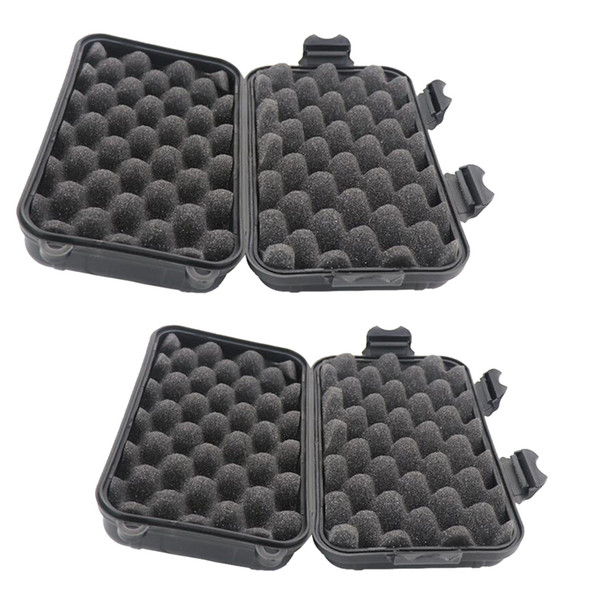 best selling 2pcs Outdoor Survival Container Waterproof Shockproof Storage Case Boxes