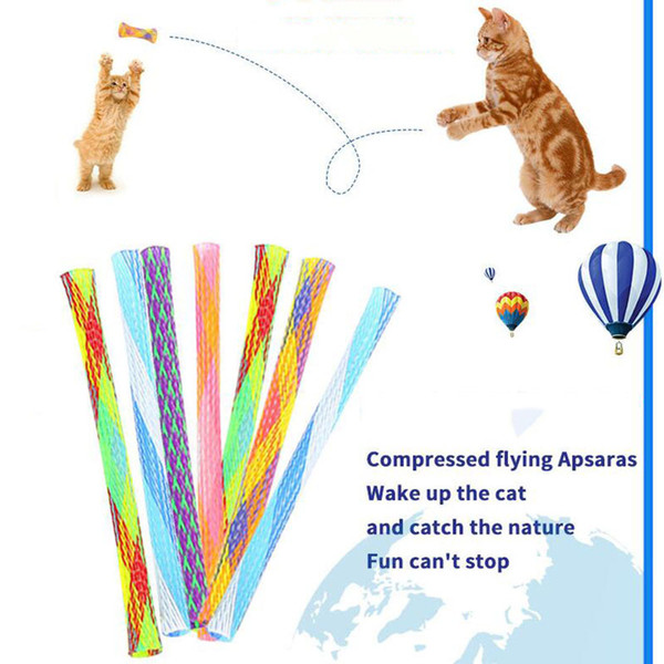 top popular Retractable Cat Teaser Funny Cat Stick Cat Toy Cats Teaser Wand Kitten Colorful Spring Tube Pet Action Interactive Toys Fidget Toy 2021