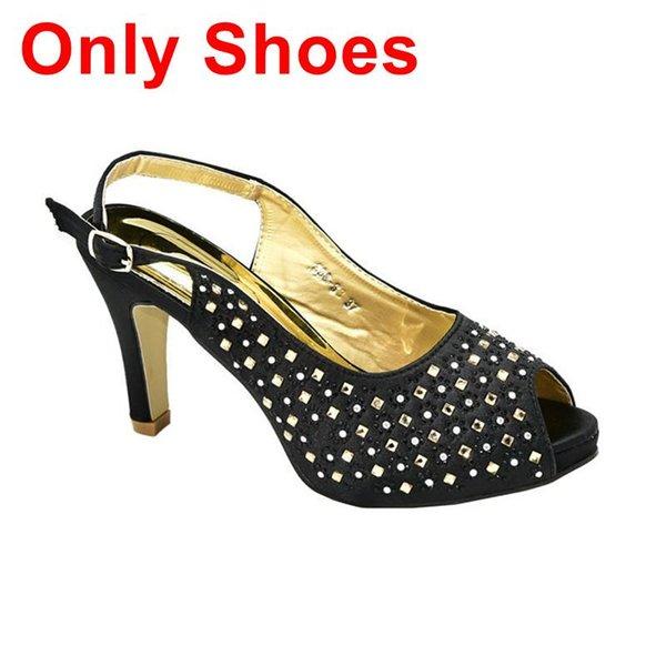 Schwarz nur Schuhe.