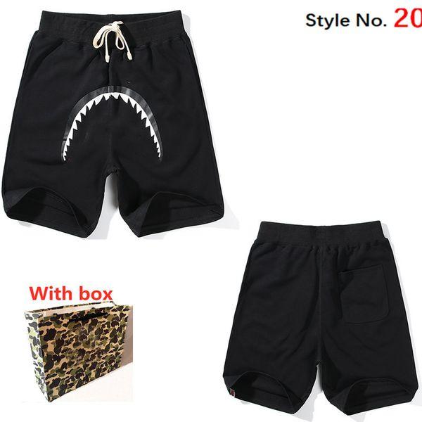 top popular 2021 Women shorts Men Casual Summer pants Letter Print Womens Top Trendy Male High Quality Streetwear Luminous Shark with box 2021