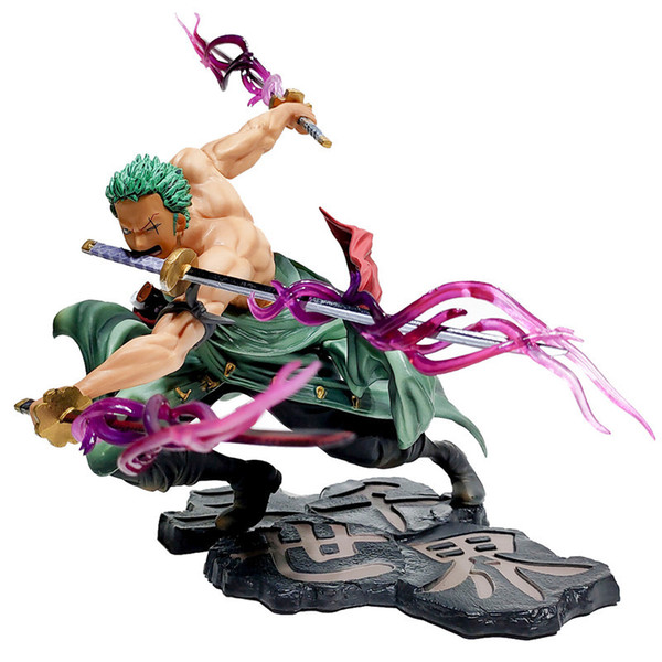 top popular anime one piece figurine Roronoa Zoro Monkey D Luffy Trafalgar D Water Law PVC Action Figure Collection Model Toys Gift 201202 2021