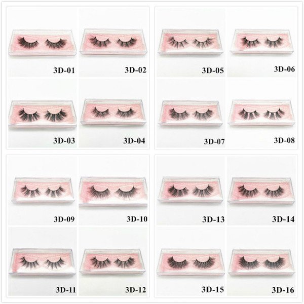 best selling 3D Mink Eyelashes Eye makeup Mink False lashes Soft Natural Thick Fake Eyelashes 3D Eye Lashes Extension Reusable 16 styles free DHL