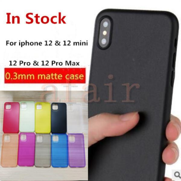 top popular 0.3mm Ultra Thin Slim Matte Frosted PP Phone Case Transparent Flexible Case Cover For IPhone 12 mini 11 Pro Max X XS XR 8 7 plus IN Stock 2020