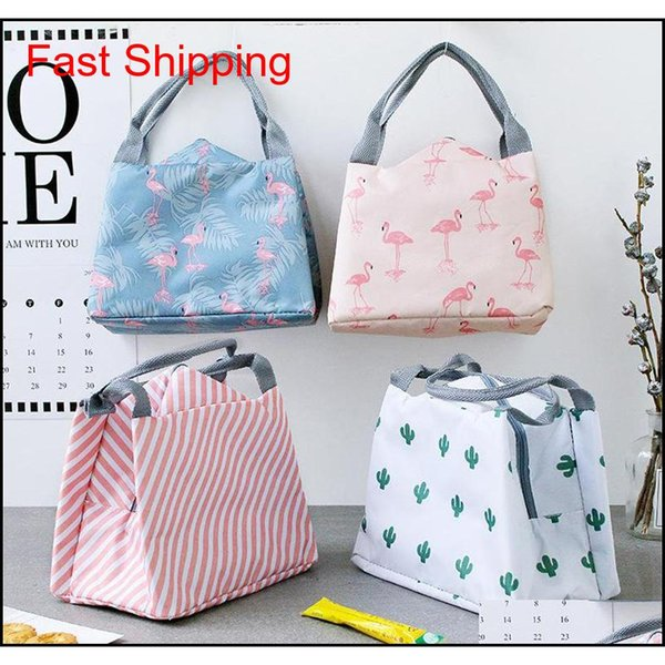 best selling 8 Style Portable Flamingo Lunch Bag Cooler Bag Thermal Insulation Bags Travel Picnic Food Lunch Box Bag For Women G qylBHD bdetoys