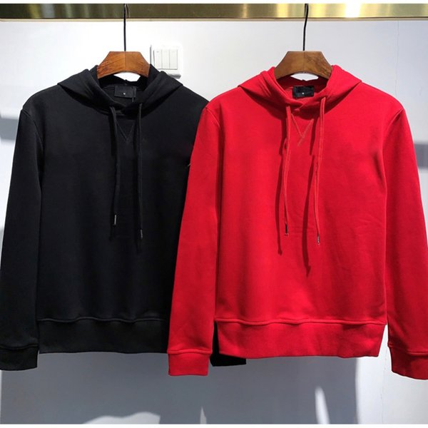 top popular Letter printing design mens fashion sweater long-sleeved sports hooded warm sweater autumn and winter 2021