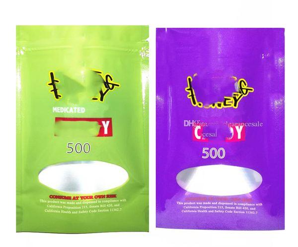 top popular Medicated 500mg HASHTAG LOL Edibles bag packaging Hashtag bag Cookies White runtz PINK rozay sorbet 2021