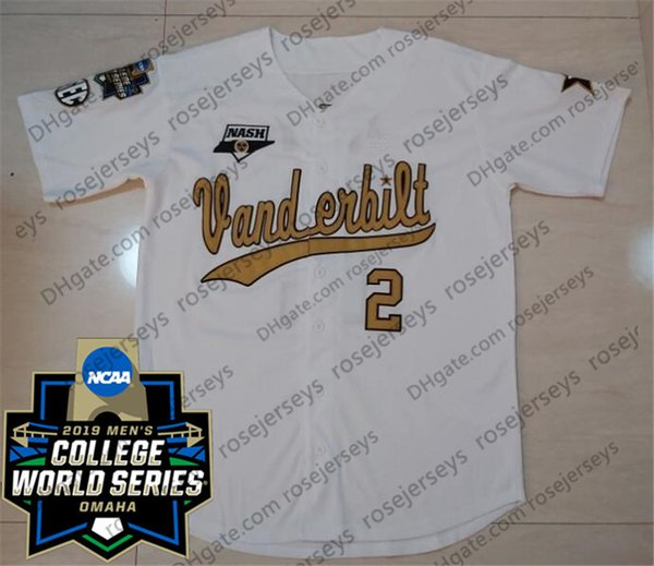 White With Gold with 2019 CWS Patch