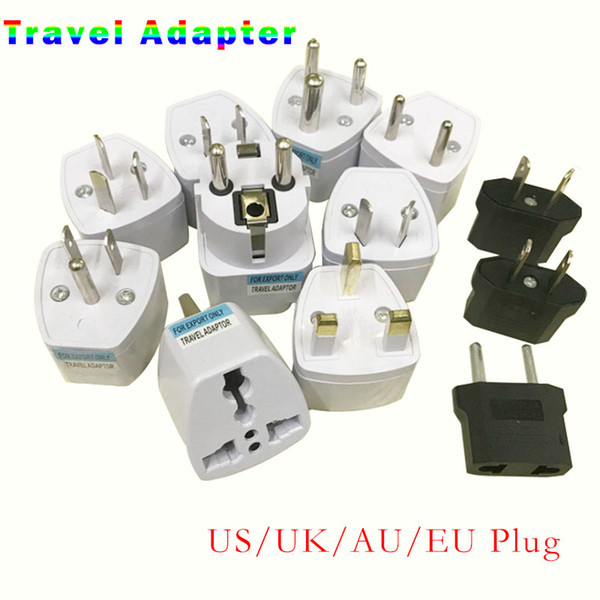 top popular Universal Travel Adapter US AU EU UK Plug Power Charger Adapter Converter 250V 10A Socket Converter White 2021