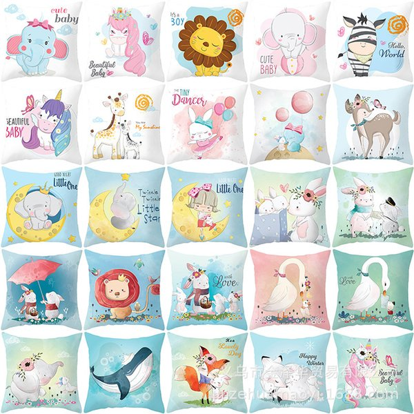 best selling Cover Cute Pillow Animal Household Cartoon Goods Car Sofa Cushion Cover Pillow