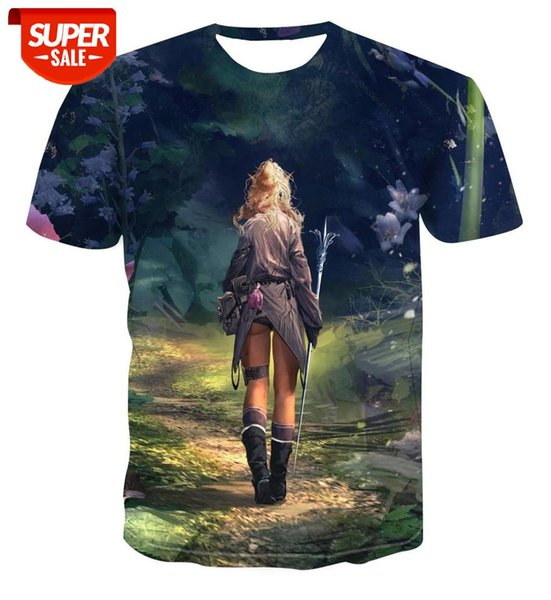 top popular 2020 3D Summer T-shirt Men's Anime Print T-shirt Men's Psychedelic Casual Hypnosis Street Wear XL S-6XL #Lo5b 2021