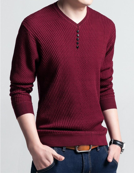 best selling Solid Color Mens Sweater Trendy Casual Winter Wear Autumn Knit Tops Classic High Quality Long Sleeve Men Thick Clothing
