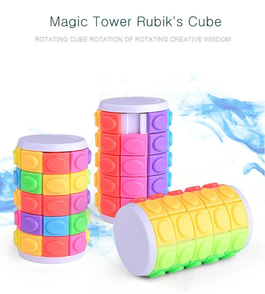 best selling Children's Educational Color 5-level Three-dimensional Puzzle Creative Sliding Magic Tower Decompression Cube Toy Intellectual Funny Toy