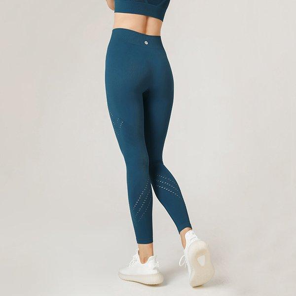 top popular New Splicing Naked Peach Hip Yoga Pants Women's Running Fitness Pants High Waist High Elastic Sports Tights 2021